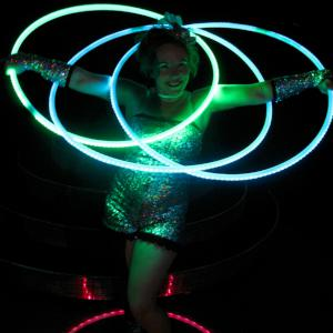 LED Smart Hoop show: Click for video.