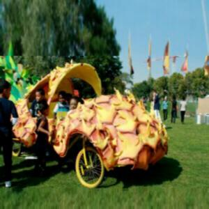 Pedal Powered Pineapple Car