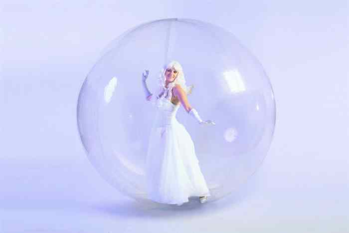 Ice fairy in a globe
