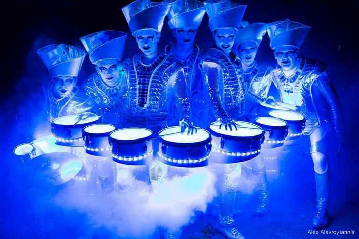 Christmas Party Entertainment Ideas Part - 16: Illuminated Drum Group