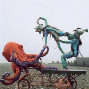 Octopus on a bicycle with acrobalancers