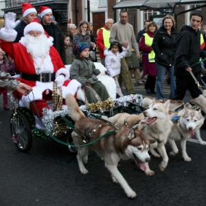 Huskies to deliver Santa