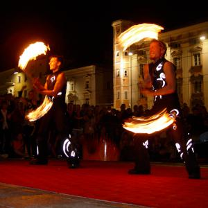 Public performance of Spectacular Fire Show- click for demo video