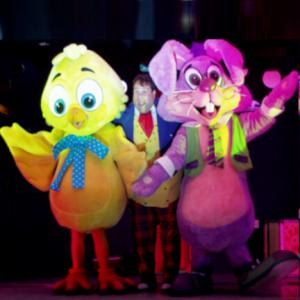 Easter Chick and Cartoon Bunny