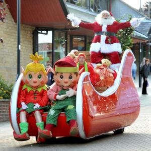 The Elves on Santa's Sleigh