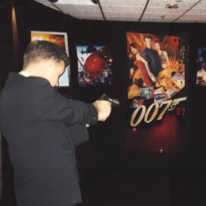 James Bond 007 laser shooting gallery