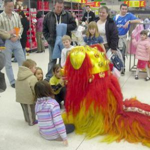 Lion Dance in a shopping centre