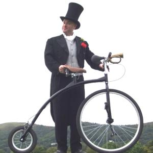 Victorian Penny Farthing character