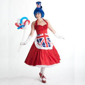 Red White and Blue balloon modeller