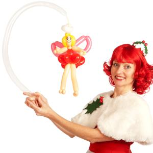 Christmas balloon modelling- angel