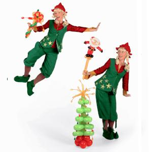 Christmas balloon modelling- elves
