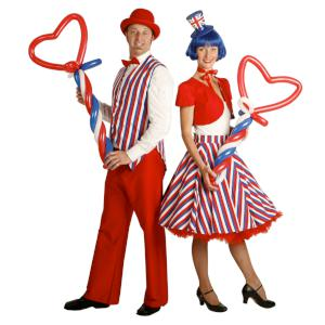 Red white and Blue Balloon modellers