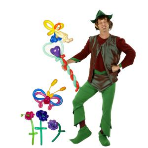 Elf and Flowers themed balloon modelling