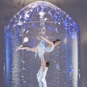 snow themed aerial acrobalance