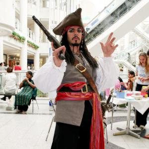 Pirates of the Caribbean character actor Jack Sparrow