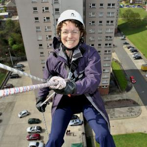 abseiling Larner Road